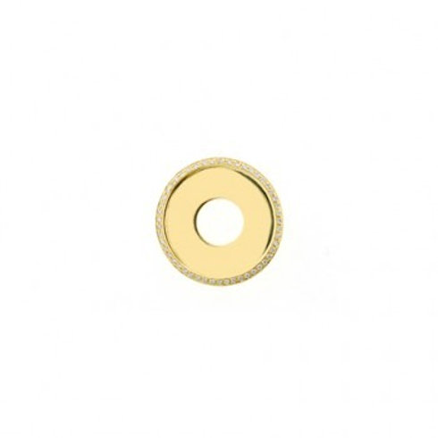 20mm HIGHLIGHTS Gold and Diamond Disc