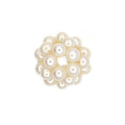 25mm White Pearl Cluster Pendant