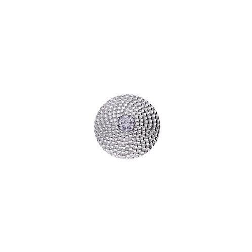 10mm FIBONACCI Diamond Centerpiece in Silver