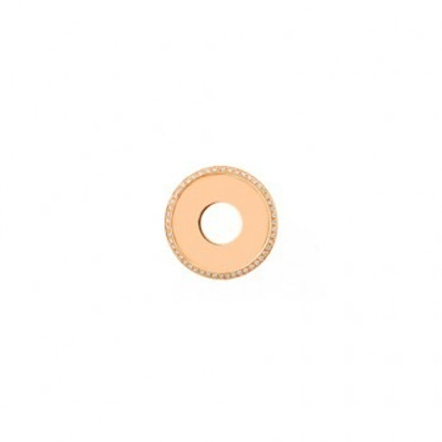 20mm HIGHLIGHTS Rose Gold and Diamond Disc