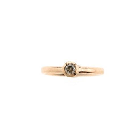 DIAMOND SOLO Ring Rose Gold