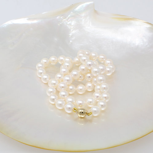 MARGARITE White Akoya Pearl Necklace