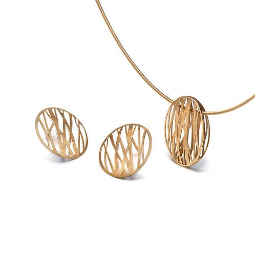 GRASSES Gold Pendant