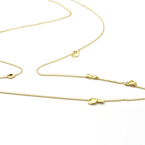 WIND CHIMES Gold Chain Necklace