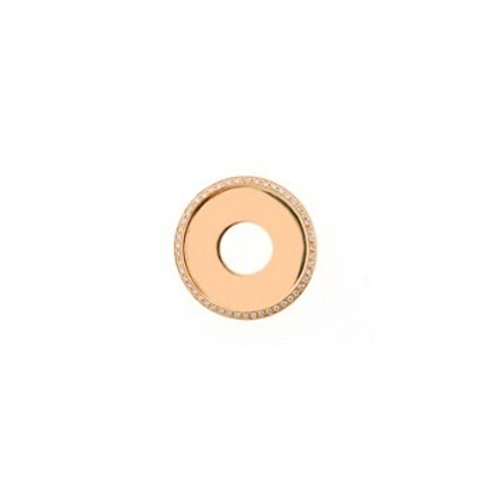24mm HIGHLIGHTS Rose Gold and Diamond Disc