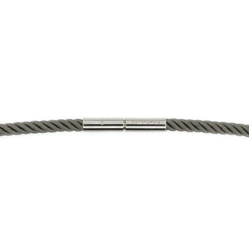 Poppy-Gray Silken Cord Necklace