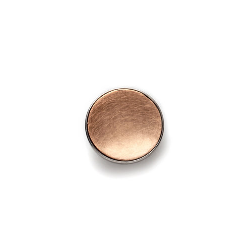 14mm Rose GOLD BUTTON Matte
