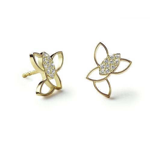 LEAF SKY Gold Earrings