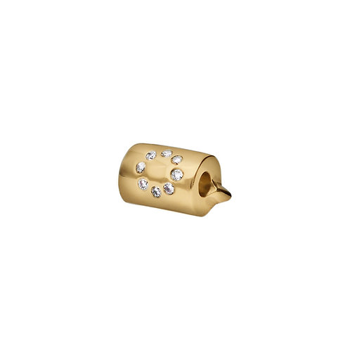 LUNA CLASSIC Gold Scroll with 8 Diamonds