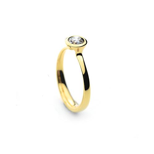 DIAMOND SOLO Ring Gold