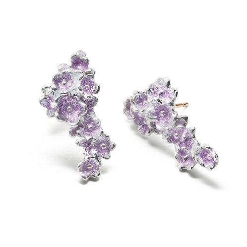 Purple FORGET-ME-NOT Earrings
