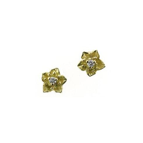 DIAMOND FLOWER Gentiana Earrings