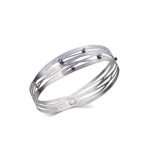 GRASSES White Gold and Gemstone Bracelet