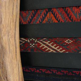 Oak railroad-tie wood, Old oriental rugs