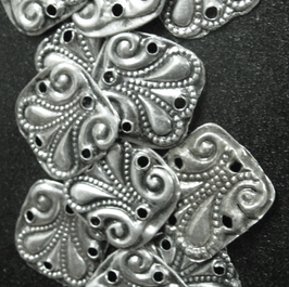 Pieces of silver praying-shawl ornaments (East Europe, around 80 years old)
