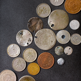 Old coins from the Middle East