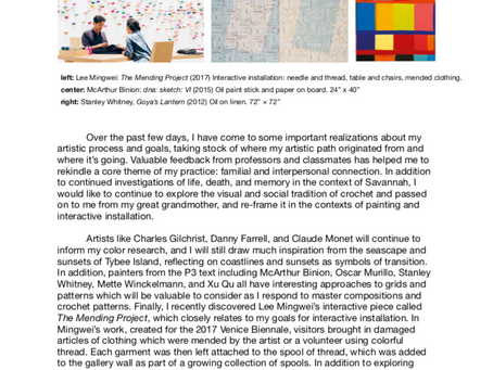 Formal Aspects of Painting: Studio Proposal