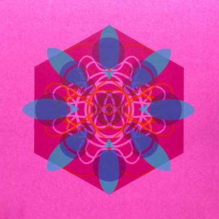 Single Cell Screen Print: Deep Pink II