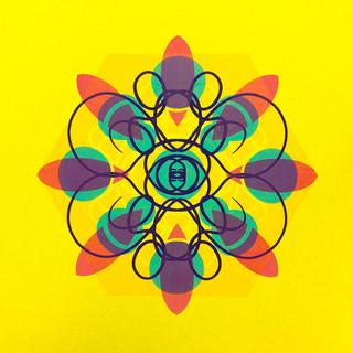 Single Cell Screen Print: Yellow II