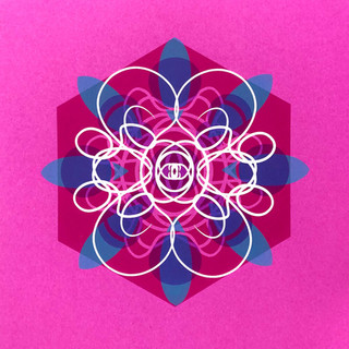 Single Cell Screen Print: Deep Pink 1