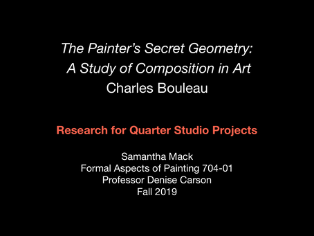 The Painter's Secret Geometry: Research for Graduate Painting