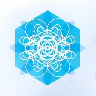 Single Cell Screen Print: Blue
