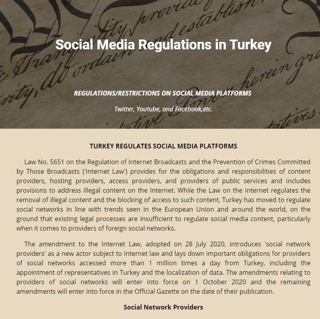 Turkey Social Media Regulation