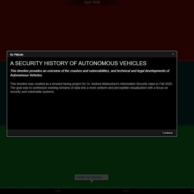 Security History of Autonomous Vehicles