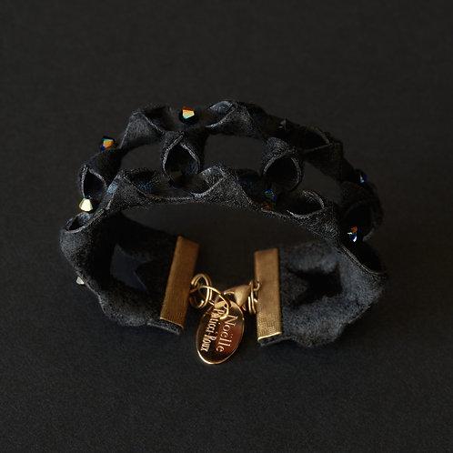 Bracelet ajouré, perles Swarovski