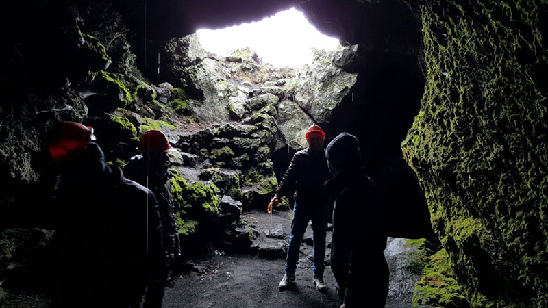 Etna Jeep Tour, Cave exploration