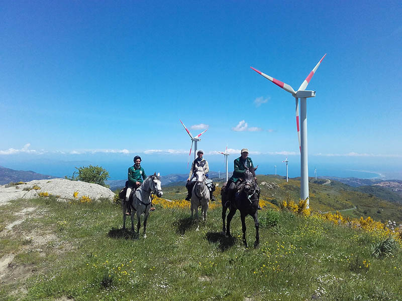 Horse Riding in Sicily, View point