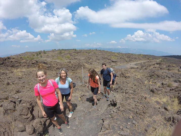 Etna Bike Tours, Massive lava flow