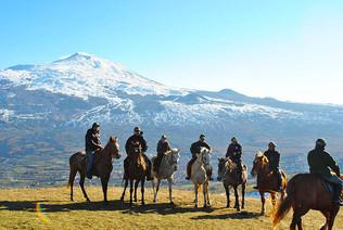 Etna view, Sicily Horse Tours
