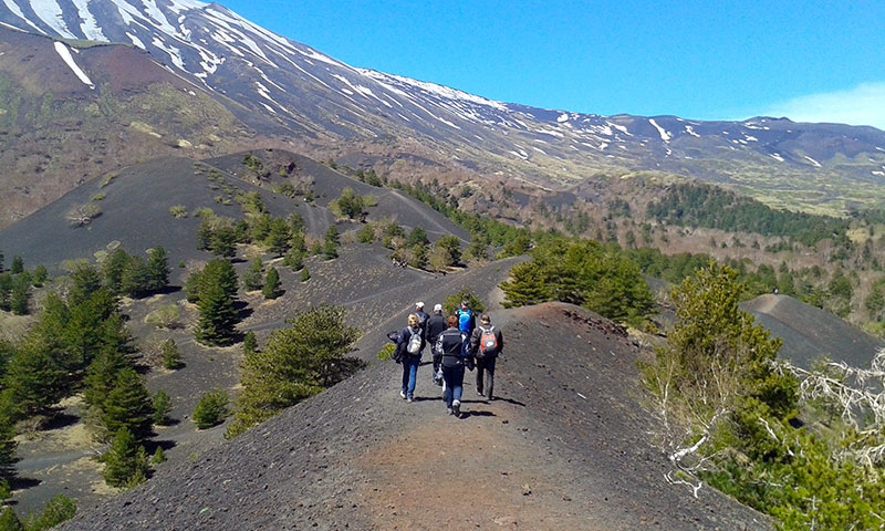 Etna Jeep Tour, Short walk