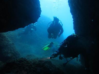 Cliff diving sicily