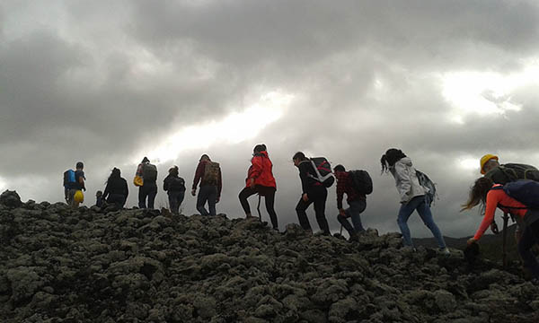 Visit Etna, Walking on the lava