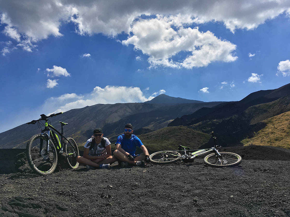 Bikers, Biking on mount Etna