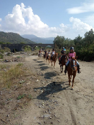 Escursione a Cavallo parco dell'Alcantara