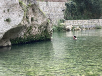 A swim in the River, Siracusa Walking Tour