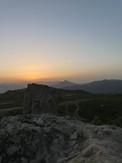 Walking Sunset in Sicily
