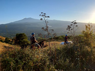 Etna view, Sunset Horse Tour on mount Etna