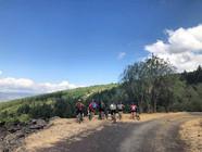 Vista sulle aree boschive, Etna in eBike