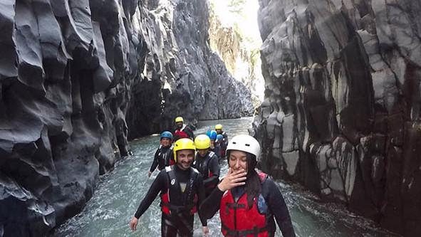 Risalita, Rafting Gole di Alcantara