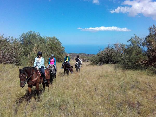 Horseback Riding in Sicily, Etna