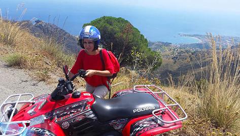 Sea view trail, Taormina Quad Tour