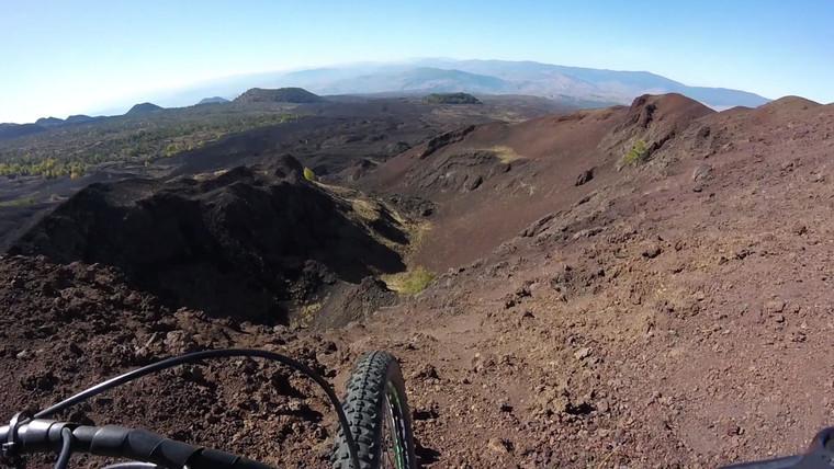 Etna Bike Excursion, Volcanic view