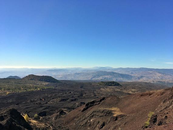 Volcanic landscape, Etna Excursions
