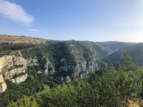 A view point of the Valley, Pantalica Hike, Walking in Sicily