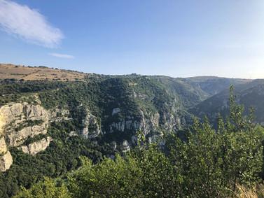 Vista sulla valle dell'Anapo