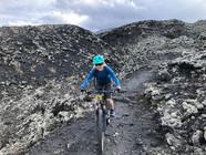 Single Track sulla lava, Etna in MTB